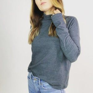 SALE Madewell Boxy Fit Turtleneck Top